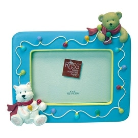 Russ Berrie Winter Friends Sculpstone Picture Frame