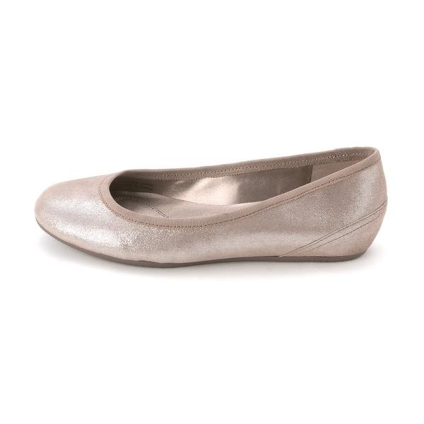 Tahari Womens AUKLAND Leather Round Toe Ballet Flats
