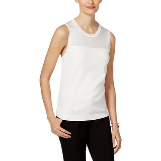Anne Klein Womens Tank Top Sweater Sleeveless Shell