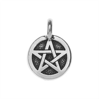 Link to TierraCast Pewter Charm, Round Pentagram Symbol 16.5x11.5mm, 1 Piece, Antiqued Silver Plated Similar Items in Jewelry & Beading