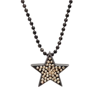 Crystaluxe Star Pendant with Swarovski Crystals in Sterling Silver - Yellow