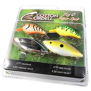 Cotton Cordell Big O Super Spot Triple Threat Fishing Lures - multi-color