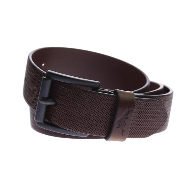 Tommy Bahama Mens Casual Belt Italian Leather Pattern