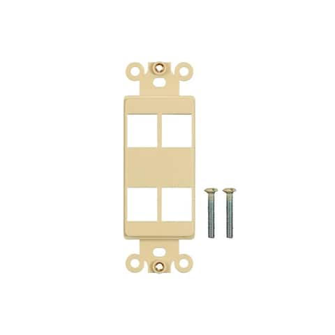 Monoprice Dcor Insert for Keystone 4 Hole - Ivory for Home Office Install
