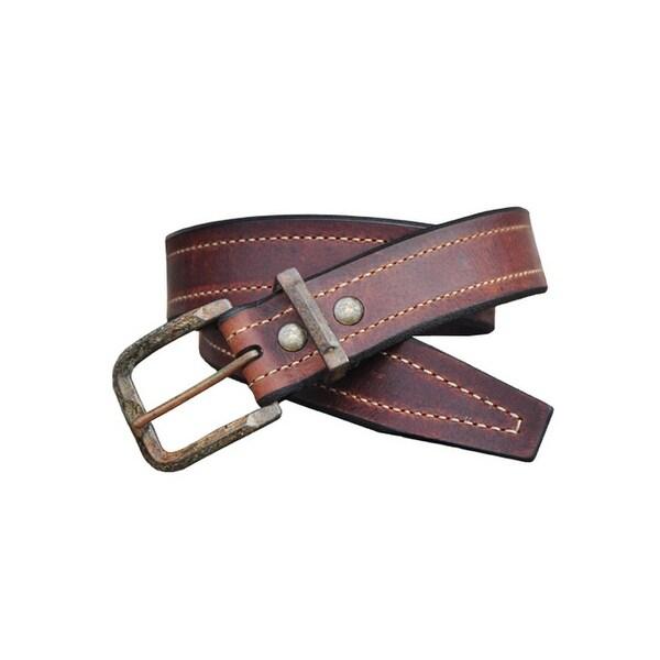 Vintage Bison Western Belt Mens Granada Leather Straps Saddle
