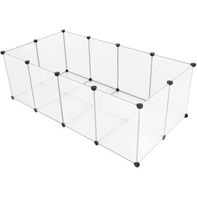 Pet Playpen Fence Cage with Bottom for Small Animals Guinea Pigs, Hamsters, Bunnies, Rabbits
