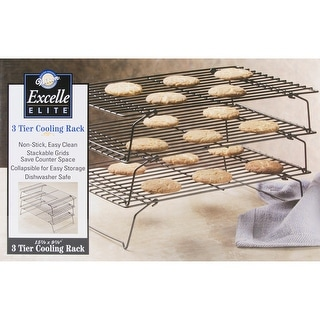 """Excelle Elite 3-Tier Cooling Rack-8.5""""X15.875""""X9.875"""""""