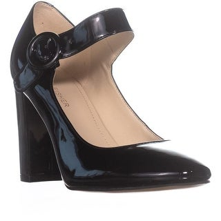 Marc Fisher Shaylie Mary Jane Heels, Black Synthetic - 7.5 us