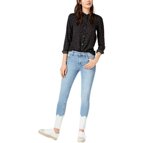 Joe's Womens Ray Dip Dye Skinny Fit Jeans, Blue, 28