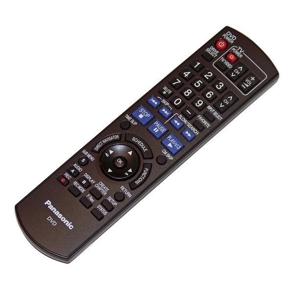OEM Panasonic Remote Control Originally Shipped With: DMREZ28, DMREZ28K, DMR-EZ28, DMR-EZ28K