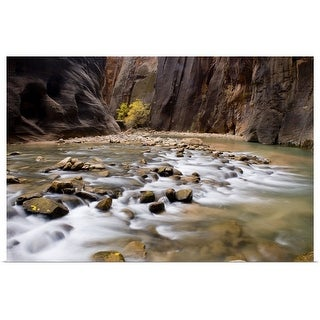 """""""The Virgin River flowing through the Zion Canyon narrows, Utah"""" Poster Print"""