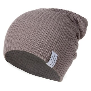 Link to Soft Ribbed Ski Beanie Slouch Slouchy Knit Hat Heather Gray Similar Items in Gloves