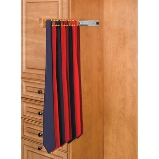 Rev-A-Shelf CWSTR-20-1 CWSTR Series 20 Inch Side Mount Sliding Maple Tie Rack for up to 34 Ties - N/A