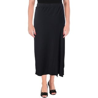 Pure DKNY Womens Maxi Skirt Side Pleat Slit