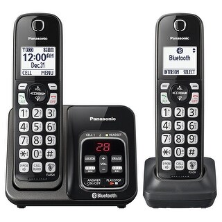 Panasonic KX-TGD562M Link2Cell Bluetooth Cordless Phone with Voice Assist and Answering Machine - 2 Handsets (Refurbished)