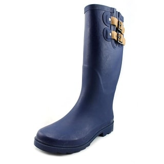 Chooka Top Solid Women  Round Toe Synthetic Blue Rain Boot