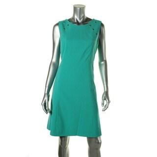 Nine West Womens Rose Garden Grommet Sleeveless Wear to Work Dress - 16