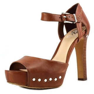 Vince Camuto Macyn Women Open Toe Leather Brown Platform Heel