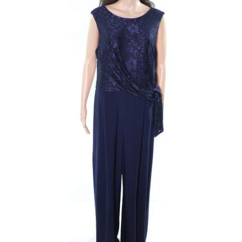 Lauren by Ralph Lauren Womens Blue Size 4 Toki Laced Knot Jumpsuit