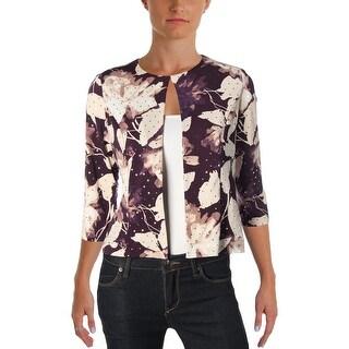 Jessica Howard Womens Petites Bolero Matte Jersey Embellished - 4P
