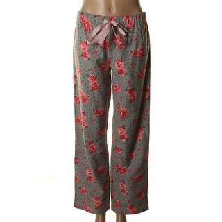 Jenni Womens Lounge Pants Cotton Floral Print - S