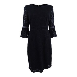Tommy Hilfiger Women's Lace Bell-Sleeve Dress