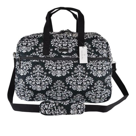 Vera Bradley CHANDELIER NOIR Grand Traveler Cotton Weekender Duffle Bag