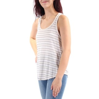LUCKY BRAND Womens New 2726 Beige Striped Scoop Neck Sleeveless Casual Top M B+B