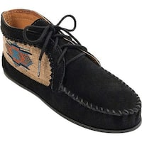 Minnetonka Women's El Paso Ankle Boot Black Suede