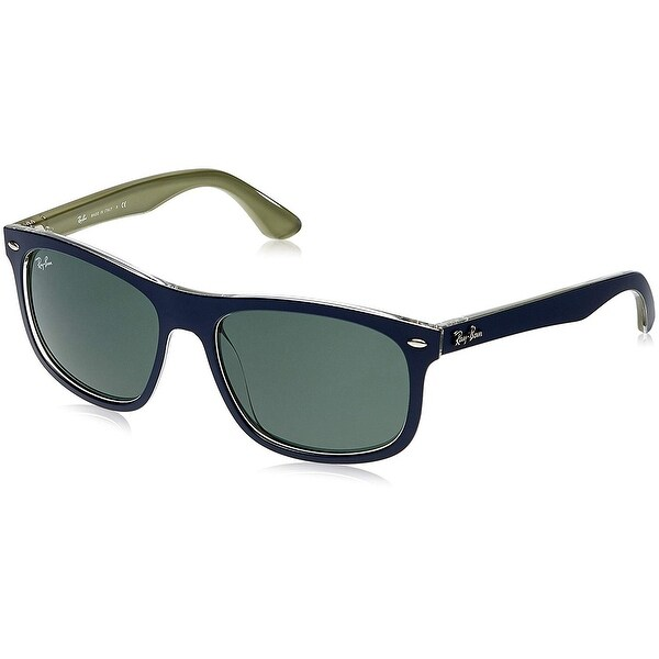 859d566737 Ray-Ban Injected Man Sunglass - Top Mat Blue On Military Frame Dark Green  Lenses