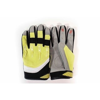 Race-Driven ATV MX Off Road Silicone Fingertip Riding Gloves - Yellow (5 options available)