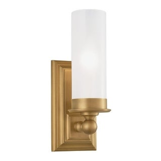 """Norwell Lighting 9730 Richmond 12"""" Tall 1-Light Bathroom Sconce with White Glass Shade - n/a"""