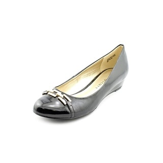 Karen Scott Mahri Open Toe Synthetic Wedge Heel