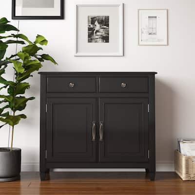 """Hampshire SOLID WOOD 40 inch Wide Traditional Entryway Storage Cabinet - 40""""w x 15""""d x 36"""" h"""