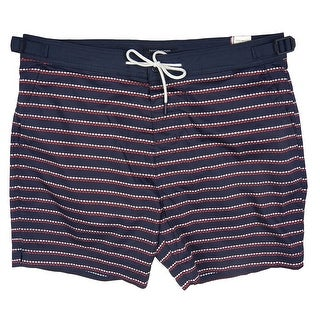 Tommy Hilfiger Blue Mens Size 2XL Diamond Striped Trunks Swimwear