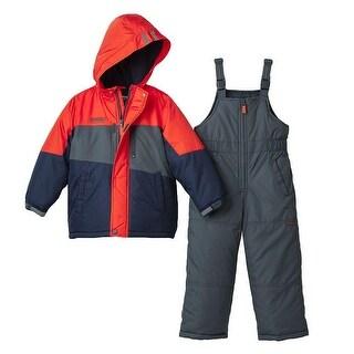 Osh Kosh Boys 12-24 Months Color Block Snowsuit - Blue