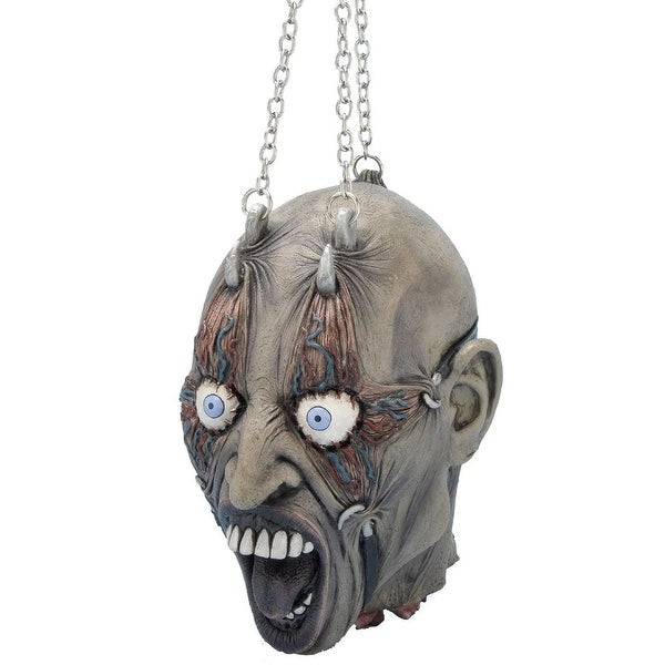 Cut Off Head On Chains Halloween Prop