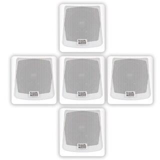 Acoustic Audio AA051W Mountable Indoor / Outdoor Speakers 5 Piece Set AA051W-5S
