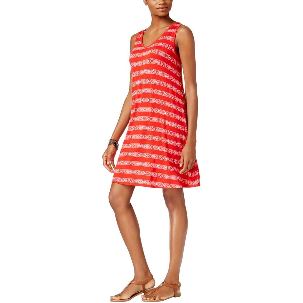 G.H. Bass & Co. Womens Striped Sheath Dress