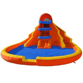 Cloud 9 Mighty Bounce House - Water Slide & Pool - Inflatable Kids Jumper without Blower