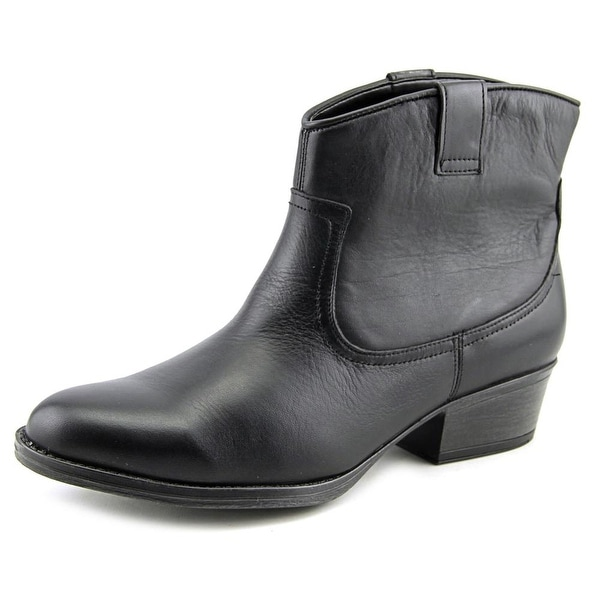 Kenneth Cole Reaction Hot Step Women Round Toe Leather Black Bootie