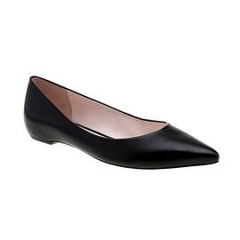 Eleanor Anukam Black Leather Ballet Flats