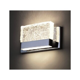"Modern Forms WS-6509 Glacier 9"" Width 1-Light LED Dimming Vanity Light - Chrome - n/a"