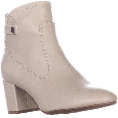Franco Sarto Newton Zip Up Block Heel Boots, White