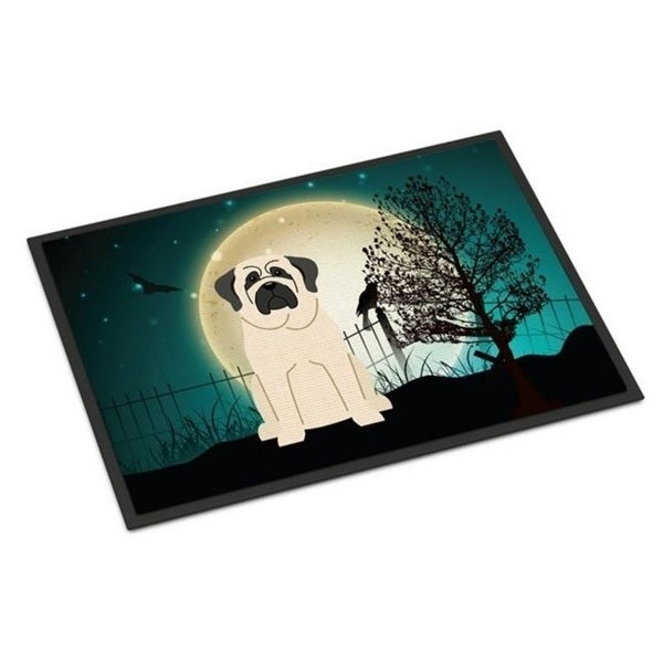 Carolines Treasures BB2207JMAT Halloween Scary Mastiff White Indoor or Outdoor Mat 24 x 0.25 x 36 in.