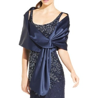 Adrianna Papell Womens Shawl/Wrap Satin Pull Through - o/s
