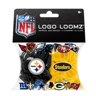 Pittsburgh Steelers Logo NFL Loom Bandz Filler Pack - multi