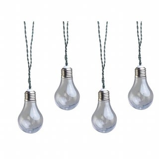 Coleman Cable 91107 Moon Rays LED Plug in String Lights, Clear