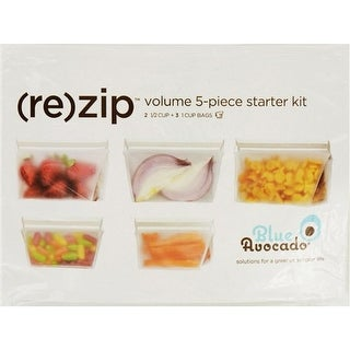 Blue Avocado Bag - Re-Zip - Volume Starter Kit - Clear - 5 Pieces Food Containers