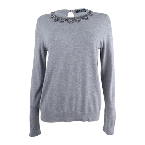 Lauren by Ralph Lauren Women's Jewel-Neck Sweater